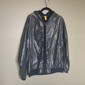 Lole grey hooded windbreaker size extra large